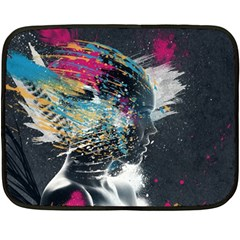 Face Paint Explosion 3840x2400 Double Sided Fleece Blanket (mini)  by amphoto