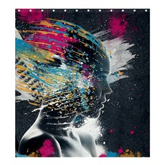 Face Paint Explosion 3840x2400 Shower Curtain 66  X 72  (large)  by amphoto