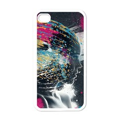 Face Paint Explosion 3840x2400 Apple Iphone 4 Case (white) by amphoto
