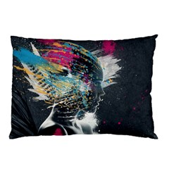 Face Paint Explosion 3840x2400 Pillow Case (two Sides) by amphoto