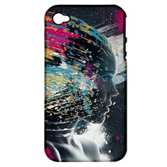 Face Paint Explosion 3840x2400 Apple Iphone 4/4s Hardshell Case (pc+silicone) by amphoto