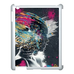 Face Paint Explosion 3840x2400 Apple Ipad 3/4 Case (white) by amphoto