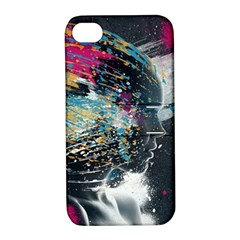 Face Paint Explosion 3840x2400 Apple Iphone 4/4s Hardshell Case With Stand by amphoto