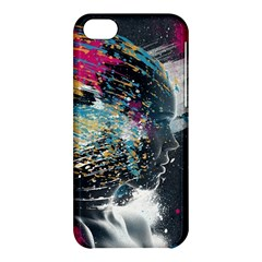 Face Paint Explosion 3840x2400 Apple Iphone 5c Hardshell Case by amphoto