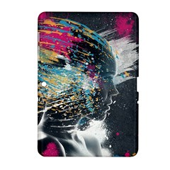 Face Paint Explosion 3840x2400 Samsung Galaxy Tab 2 (10 1 ) P5100 Hardshell Case  by amphoto