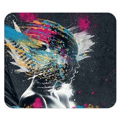 Face Paint Explosion 3840x2400 Double Sided Flano Blanket (small)  by amphoto