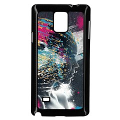 Face Paint Explosion 3840x2400 Samsung Galaxy Note 4 Case (black) by amphoto