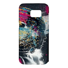 Face Paint Explosion 3840x2400 Samsung Galaxy S7 Edge Hardshell Case by amphoto