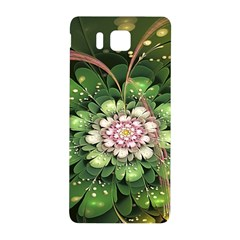 Fractal Flower Petals Green  Samsung Galaxy Alpha Hardshell Back Case by amphoto