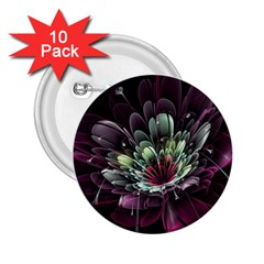 Flower Burst Background  2.25  Buttons (10 pack)