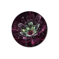 Flower Burst Background  Magnet 3  (round) by amphoto