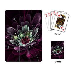 Flower Burst Background  Playing Card