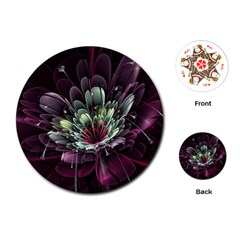 Flower Burst Background  Playing Cards (Round)