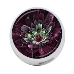 Flower Burst Background  4 Port Usb Hub (two Sides)  by amphoto