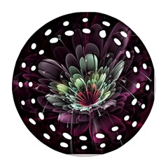 Flower Burst Background  Round Filigree Ornament (Two Sides)