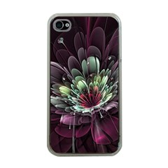 Flower Burst Background  Apple iPhone 4 Case (Clear)