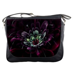 Flower Burst Background  Messenger Bags by amphoto