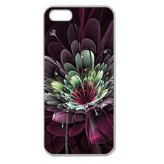 Flower Burst Background  Apple Seamless iPhone 5 Case (Clear)