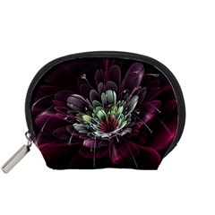Flower Burst Background  Accessory Pouches (Small)