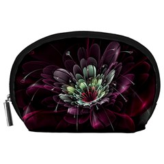 Flower Burst Background  Accessory Pouches (Large)