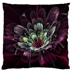 Flower Burst Background  Standard Flano Cushion Case (Two Sides)