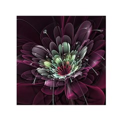 Flower Burst Background  Small Satin Scarf (Square)