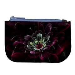 Flower Burst Background  Large Coin Purse by amphoto