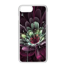 Flower Burst Background  Apple iPhone 7 Plus White Seamless Case