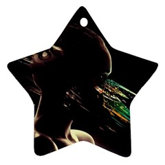 Face Shadow Profile Star Ornament (two Sides) by amphoto