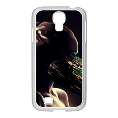 Face Shadow Profile Samsung Galaxy S4 I9500/ I9505 Case (white) by amphoto