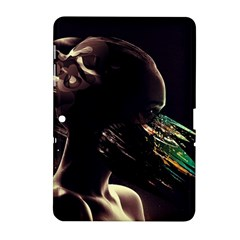 Face Shadow Profile Samsung Galaxy Tab 2 (10 1 ) P5100 Hardshell Case  by amphoto