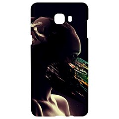 Face Shadow Profile Samsung C9 Pro Hardshell Case  by amphoto
