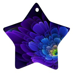 Purple Flower Fractal  Ornament (star) by amphoto