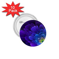 Purple Flower Fractal  1 75  Buttons (10 Pack) by amphoto