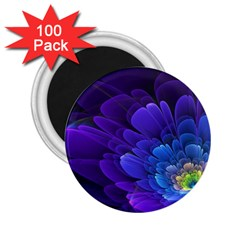 Purple Flower Fractal  2 25  Magnets (100 Pack)  by amphoto