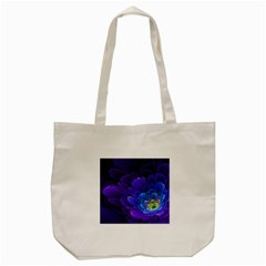 Purple Flower Fractal  Tote Bag (cream) by amphoto