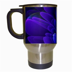 Purple Flower Fractal  Travel Mugs (white) by amphoto