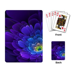 Purple Flower Fractal  Playing Card by amphoto