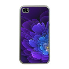Purple Flower Fractal  Apple Iphone 4 Case (clear) by amphoto