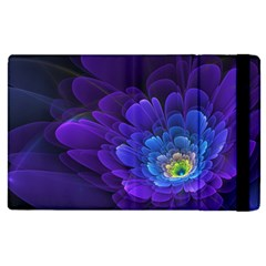 Purple Flower Fractal  Apple Ipad 3/4 Flip Case by amphoto