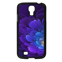 Purple Flower Fractal  Samsung Galaxy S4 I9500/ I9505 Case (black) by amphoto