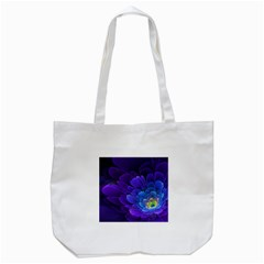 Purple Flower Fractal  Tote Bag (white) by amphoto