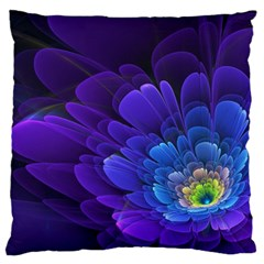 Purple Flower Fractal  Standard Flano Cushion Case (one Side) by amphoto