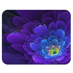 Purple Flower Fractal  Double Sided Flano Blanket (medium)  by amphoto
