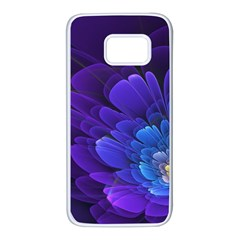 Purple Flower Fractal  Samsung Galaxy S7 White Seamless Case by amphoto