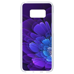 Purple Flower Fractal  Samsung Galaxy S8 White Seamless Case by amphoto