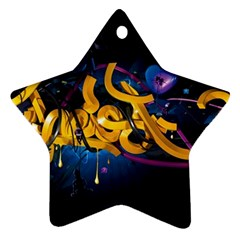 Sign Paint Bright  Ornament (star) by amphoto