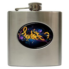 Sign Paint Bright  Hip Flask (6 Oz) by amphoto