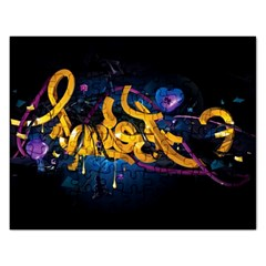 Sign Paint Bright  Rectangular Jigsaw Puzzl by amphoto
