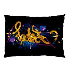 Sign Paint Bright  Pillow Case (two Sides) by amphoto